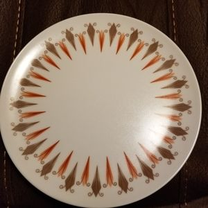Set of 7 Melmac MCM Sunburst Plates